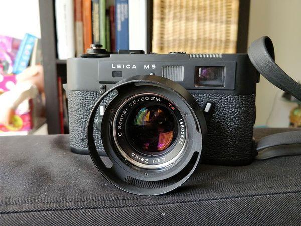 Leica Oder Zeiss Entfernungsmesser : Leica m schwarz mit carl zeiss c sonnar t mm zm in