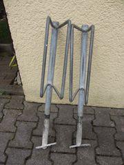 2 verzinnkte Fahrradständer zum Einbetonieren