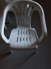 Garten - 6 Stühle - weiß