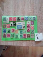 Lot L Deutsche reich briefmarken