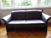 Ledercouch Sofa dunkelbraun