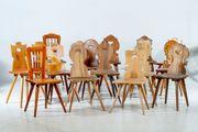 Sammlung antike Bauernstühe Brettstühle