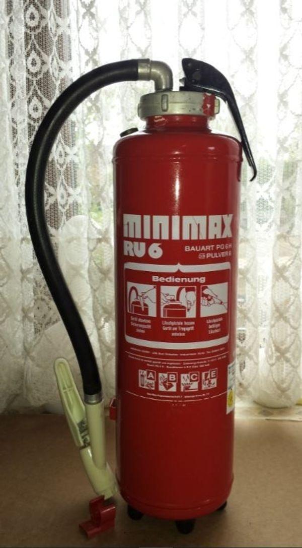 Gut bekannt Feuerlöscher Minimax RU6, 6 kg Pulverlöscher hochwert GM99