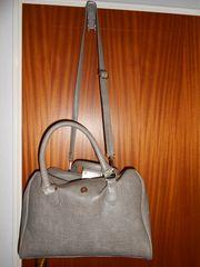 Damen Handtasche Bag Grau Neckholder