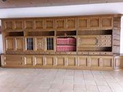 Wohnzimmer Schrankwand Eiche rustikal - sofort