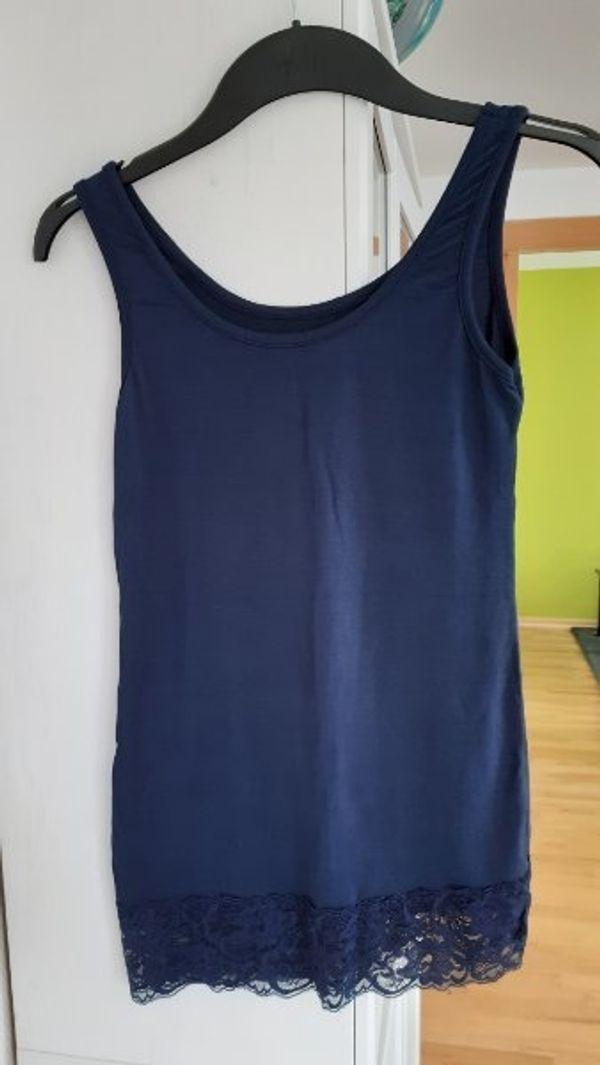 Shirt blau Gr S mit