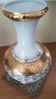 Prunkvoller Hingucker Echtgold Vase der