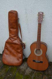 Gitarre Marke Hopf in Tasche