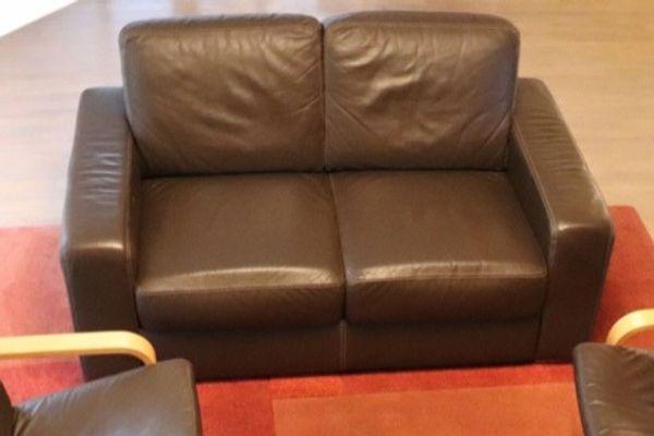 Verkaufe 2er Leder-Sofa IKEA Sandhem