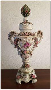 1911 - Porzellan Prunkvase - Potpourri-Vase im