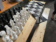 Schach - Garten - Spiel XXL Figuren