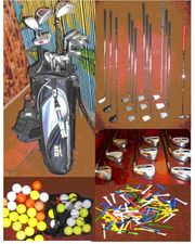 Golfausrüstung Golfschläger neuwertig