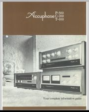 ACCUPHASE various MANUALS-Guides-INSTRUCTIONS-Brochures in english