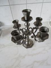 5-armiger Kerzenleuchter aus Zinn