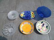 Diverse Glas- Terrakotta Schalen Teller