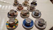 11 Stück Espresso Mokka Tassen