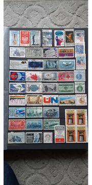 46 versch Sonder Briefmarken USA