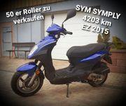SYM 50er Roller blau
