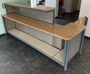 Theke Bar Holz und Stahl
