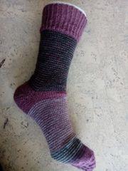 Kunterbunte Ringelsocken GumGum-Socken Unikat handgestrickt