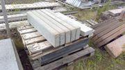 Tiefbordstein aus Betonstein Hellgrau 100