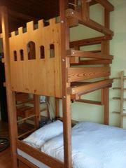 Abenteuerbett - Burgbett - Dachschrägenbett für Ritter