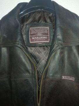 Leder-/Pelzbekleidung, Damen und Herren - Marlboro Herrenlederjacke Gr L-
