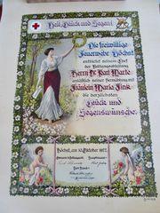 FREIWILLIGE FEUERWEHR HÖCHST 1927 Plakat