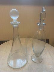 Weinkaraffen aus Glas