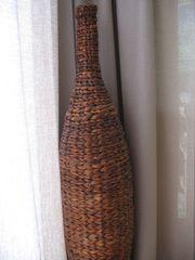 Neuwertige Rattan-Vase 117cm hoch