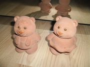 Bücherhalterung Teddybär aus Ton Terrakotta