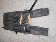 Krawehl Lederjacke Handschuhen Lederhose mit