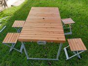 Campingtisch Koffertisch mit Stühlen