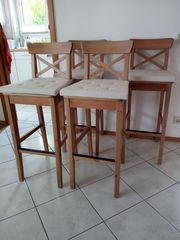 4 IKEA Barhocker inkl Sitzauflage