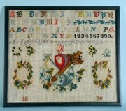 Antik 1890 Stickmuster Herz Jesus