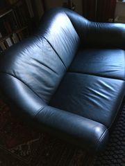 Zwei Sofas Leder 1 Sessel