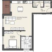Erstbezug attraktive 2-Zimmer Wohnung mit