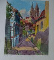Meißen Sachsen tolles altes Gemälde