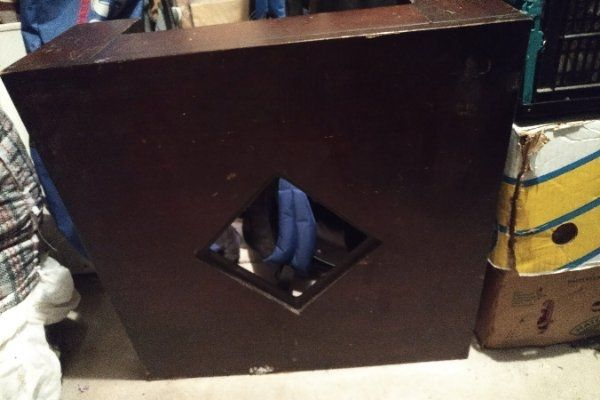 niedriger Brauener Tisch 60 cm