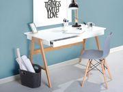 Schreibtisch weiß 120 x 70
