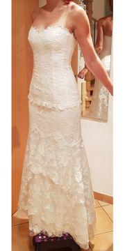 Hochzeitskleid Brautkleid weiss Spitze Meerjungfrau