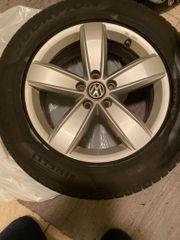 VW Tiguan Alufelgen mit Winterreifen