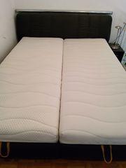 Doppelbett Kunstleder schwarz Liegefläche 160x200cm