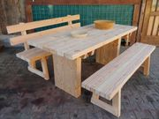 Holzbank Gartengarnitur