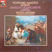 Wolfgang Amadeus Mozart-sämtliche Violinkonzerte -Yehudi