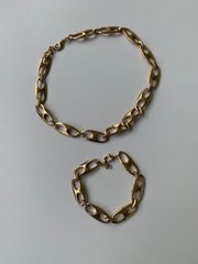 Set Halskette und Armband vergoldet