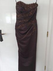 Ballkleid Abendkleid Kleid braun