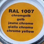 6 Dosen Chromgelb RAL 1007-SEIDENMATT