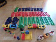 123 Playmobil Eisenbahn mit Zubehör