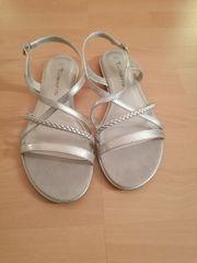 Silberne Sandalen - ungetragen